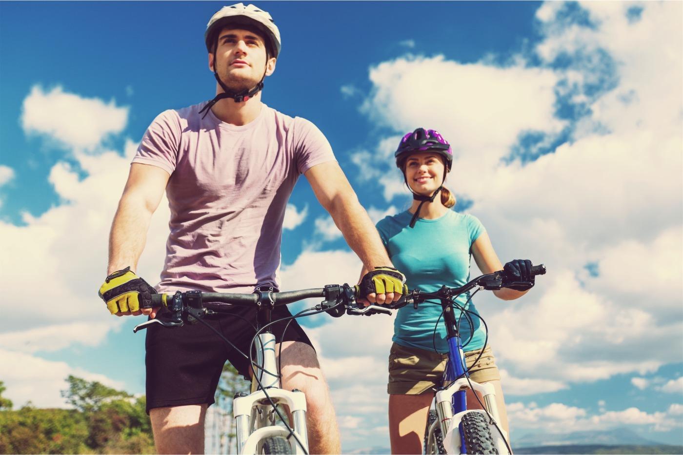 Bike biking ride mountain cyclist woman helmet