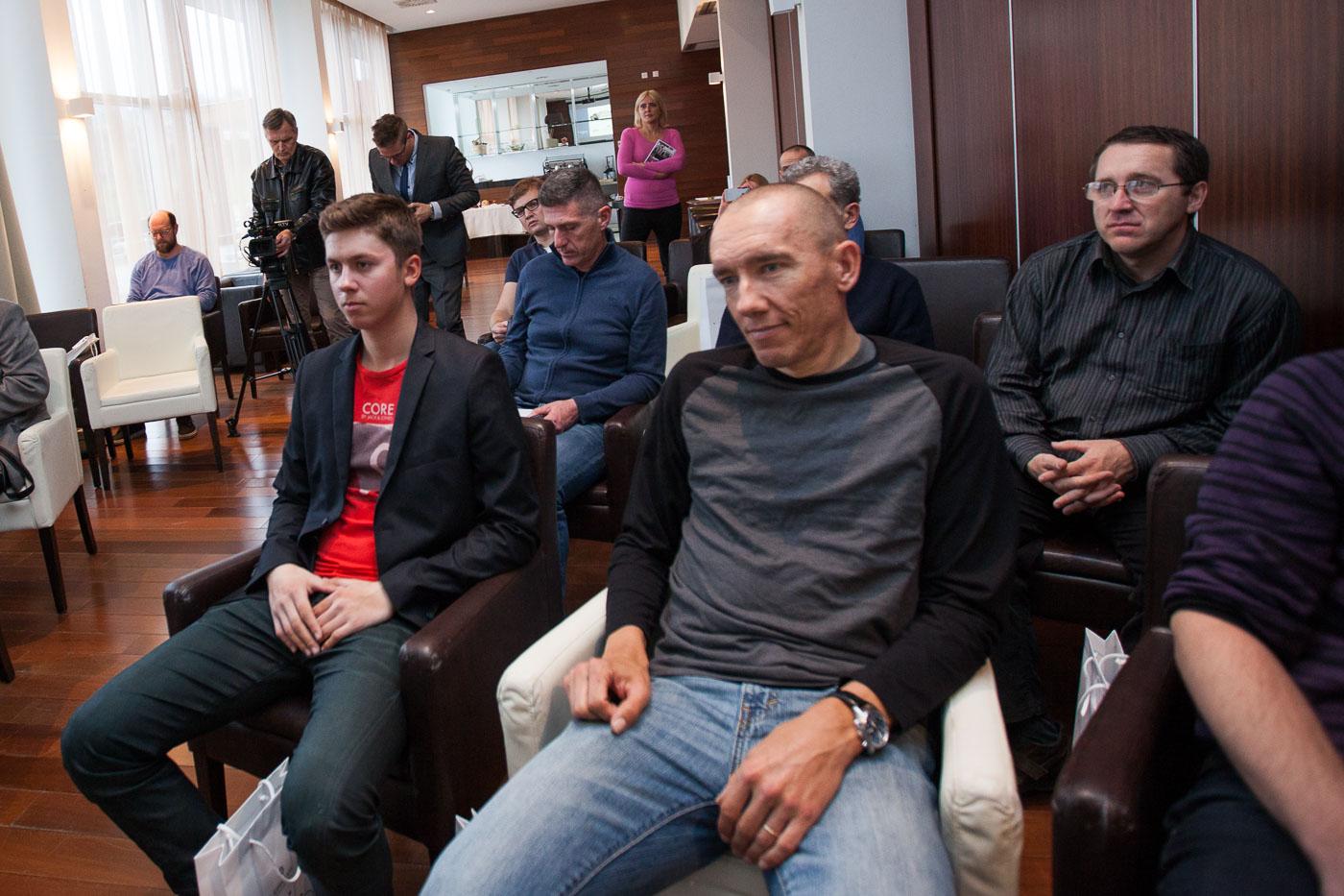 Lijevo - Tomaž Humer, u prvom planu - Marko Baloh
