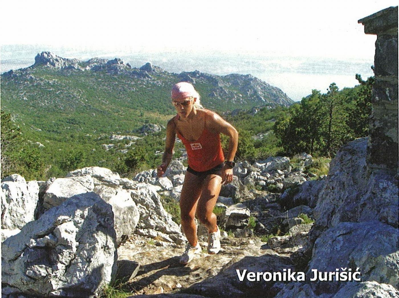 Veronika na jednoj od planinskih utrka 2006. godine.