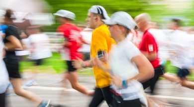 Cracovia Marathon. Runners on the city streets on May 18 2014 in