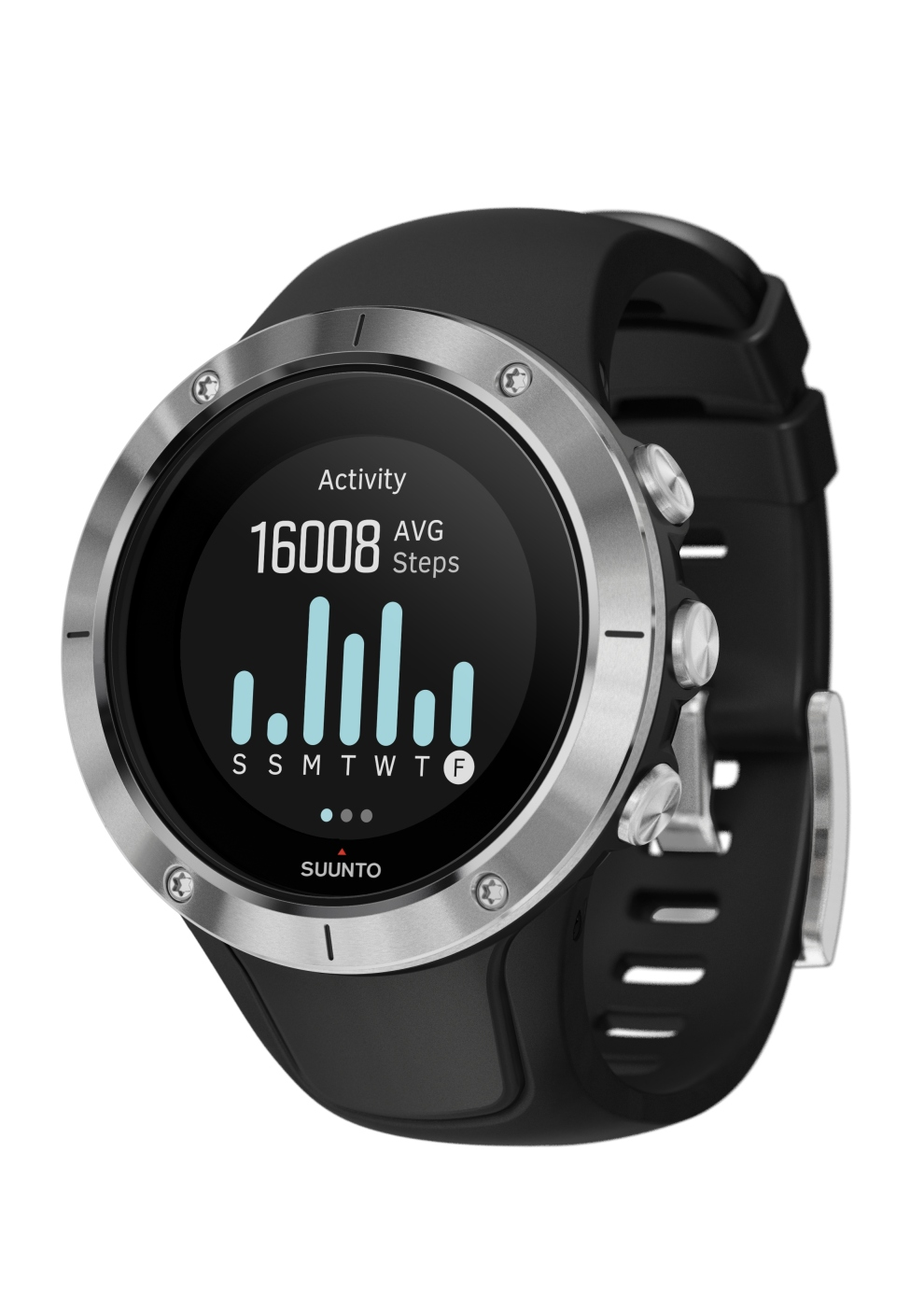 SS023425000 - SPARTAN - Trainer Wrist HR Steel - Perspective View_INS-Activity-Steps-7day